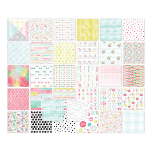 Pretty Little Studio It's Your Birthday Paper Pack | 2x2 Swatches