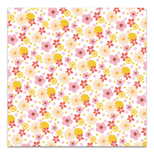 Pretty Little Studio Fun in the Sun 12x12 Paper (Single Sided) | Good Vibes 12x12