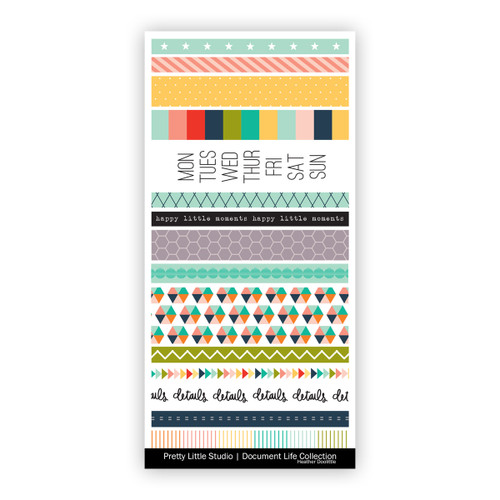 Pretty Little Studio Document Life Stickers | Everyday Washi
