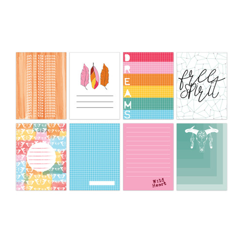 Pretty Little Studio Bohemian Dreams Journaling/Pocket Cards | Groovy 3x4