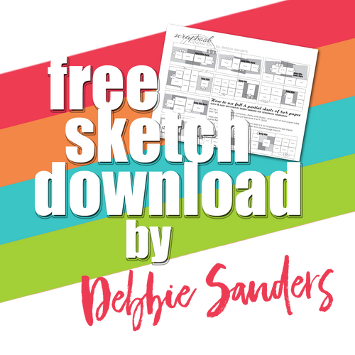 SG Freebies by Debbie Sanders: Sketches using 8x8 papers