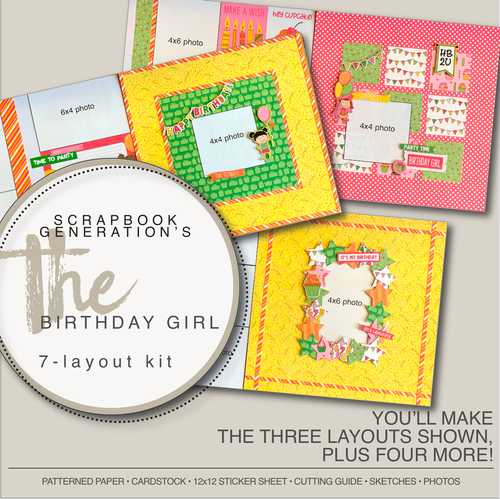 SG: The Birthday Girl - 7 Layout Kit