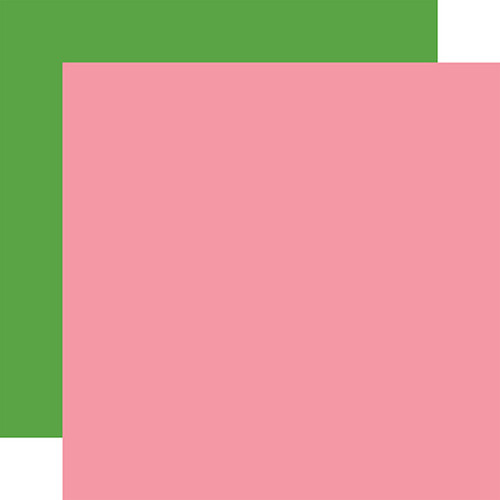 Echo Park I Love Spring 12x12 Paper: Pink / Green (Coordinating Solid)