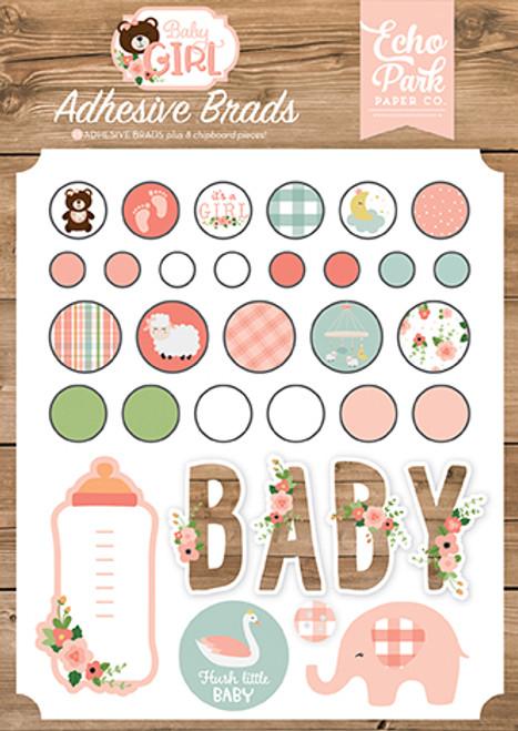 Echo Park Baby Girl Adhesive Brads