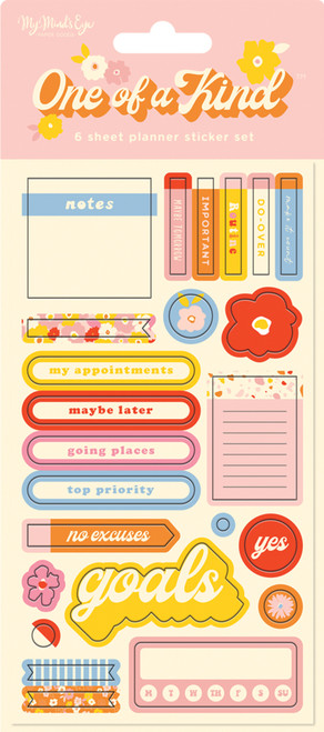 My Mind's Eye One of a Kind Planner Sticker Set