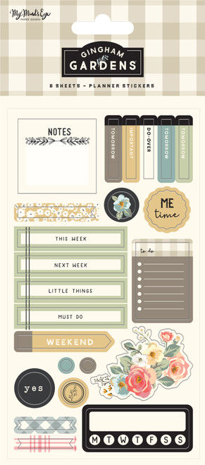 My Mind's Eye Gingham Gardens Planner Sticker Set