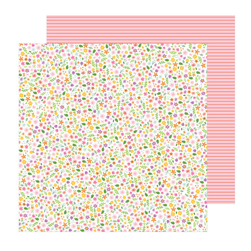 Pebbles Sun & Fun 12x12 Paper: Scattered Blossoms