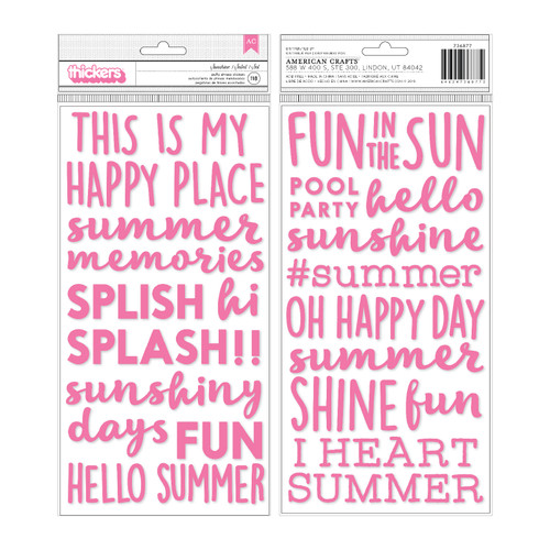 American Crafts Thickers: SUNSHINE | Pink Puffy