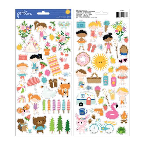Pebbles Sun & Fun 6x12 Sticker Sheet