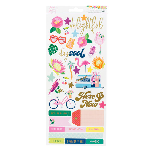 AC Dear Lizzy Here and Now 6x12 Cardstock Stickers