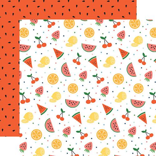 Echo Park Summertime 12x12 Paper: Fruit