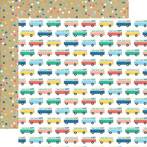Echo Park Dive Into Summer 12x12 Paper: Adventure Bus