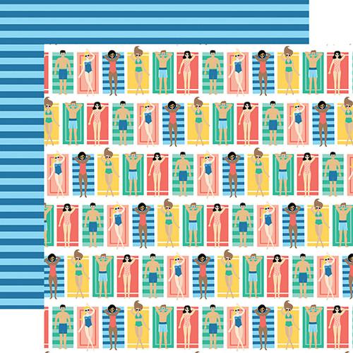 Echo Park Dive Into Summer 12x12 Paper: Beach Loungers