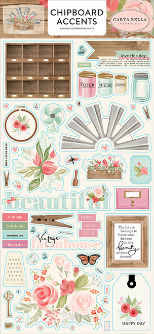 Carta Bella Farmhouse Market 6x13 Chipboard Accents