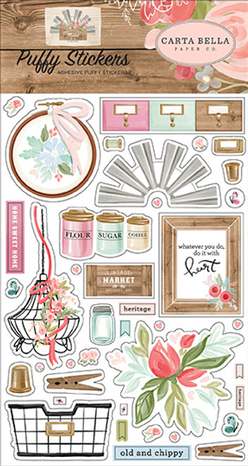 Carta Bella Farmhouse Market Puffy Stickers