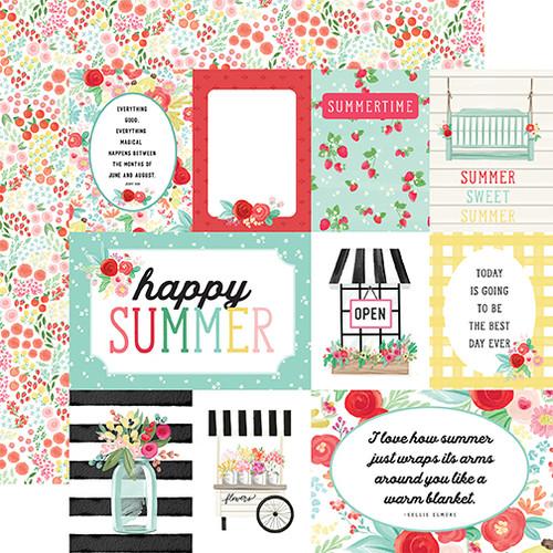 Carta Bella Summer Market 12x12 Paper: Journaling Cards