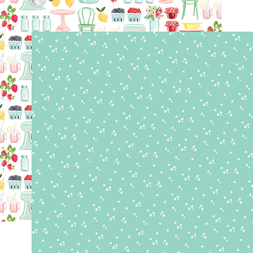 Carta Bella Summer Market 12x12 Paper: Tiny Flowers