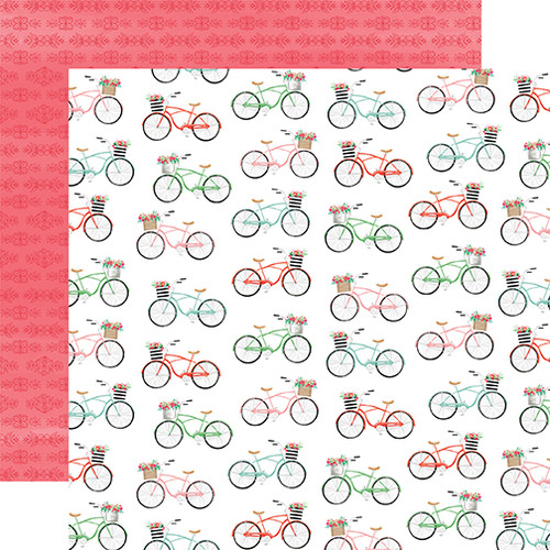 Carta Bella Summer Market 12x12 Paper: Bikes