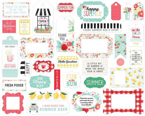 Carta Bella Summer Market Frames & Tags
