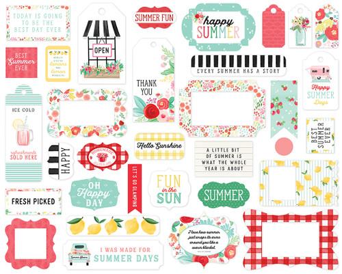 Carta Bella Summer Market Frames & Tags