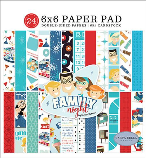 Carta Bella Family Night 6x6 Paper Pad
