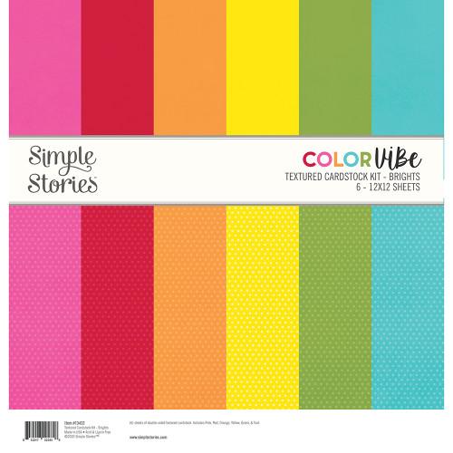 Simple Stories Textured Cardstock Kit | Brights