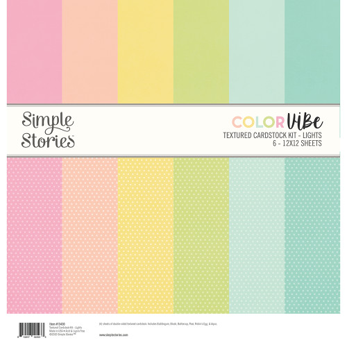 Simple Stories Textured Cardstock Kit | Lights