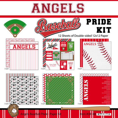 Scrapbook Customs MLB Collection Pack: Angels Pride