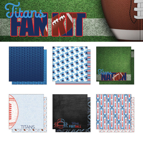 Scrapbook Customs NFL Collection Pack: Titans Fan