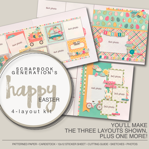 SG: Happy Easter - 4 Layout Kit