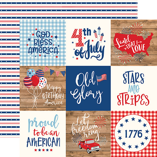 Echo Park America 12x12 Paper: 4X4 Journaling Cards
