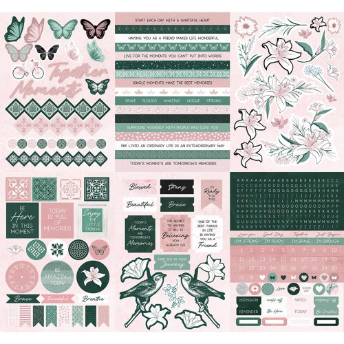 KaiserCraft Lily & Moss 6x8 Sticker Book (12 pages)