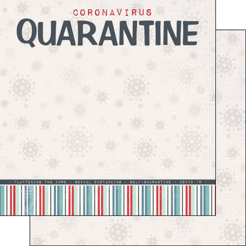 Scrapbook Customs Covid19 12x12 Paper: Quarantine