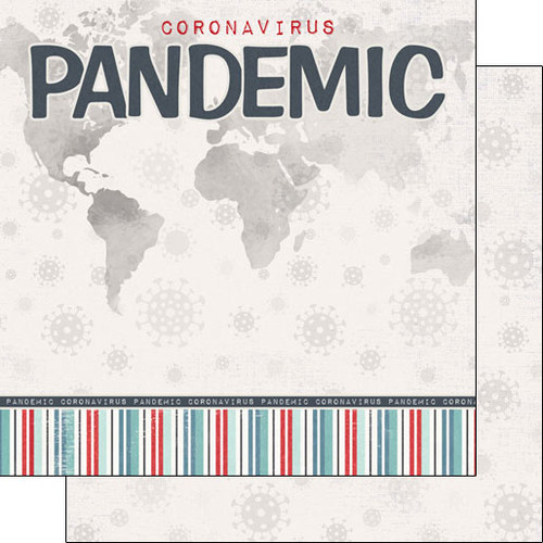 Scrapbook Customs Covid19 12x12 Paper: Pandemic