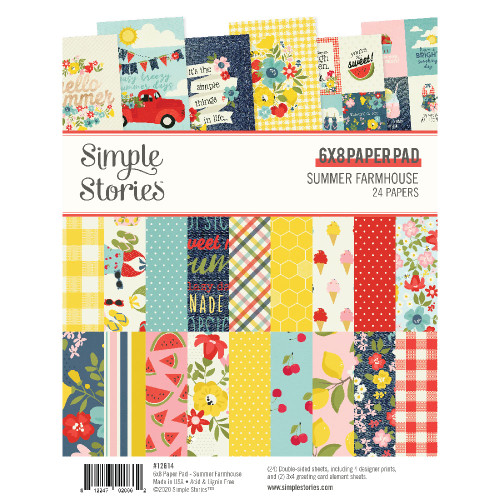 Simple Stories Summer Farmhouse 6x8 Pad