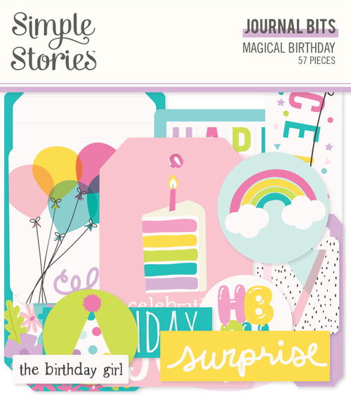 Simple Stories Magical Birthday Journal Bits & Pieces