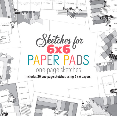 * DIGITAL DOWNLOAD * Allison Davis for SG | 6x6 Paper Pads - One Page (20 sketches)