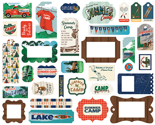Carta Bella Summer Camp Frames & Tags