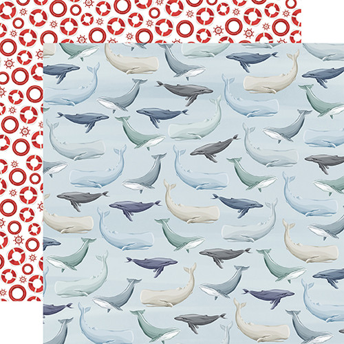 Carta Bella By The Sea 12x12 Paper: Whales