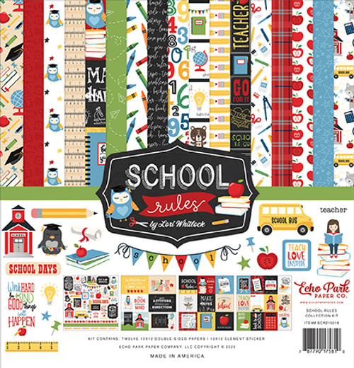 Echo Park School Rules Collection Kit