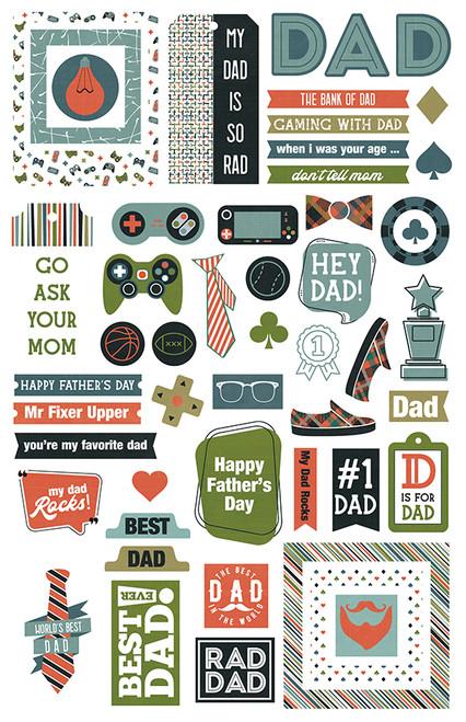 ColorPlay Rad Dad Ephemera