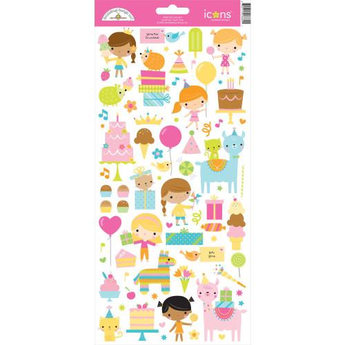 Doodlebug Hey Cupcake Stickers: Icons