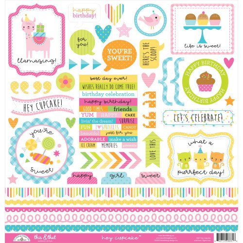 Doodlebug Hey Cupcake Stickers: This & That