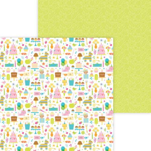 Doodlebug Hey Cupcake 12x12 Paper: Birthday Girl