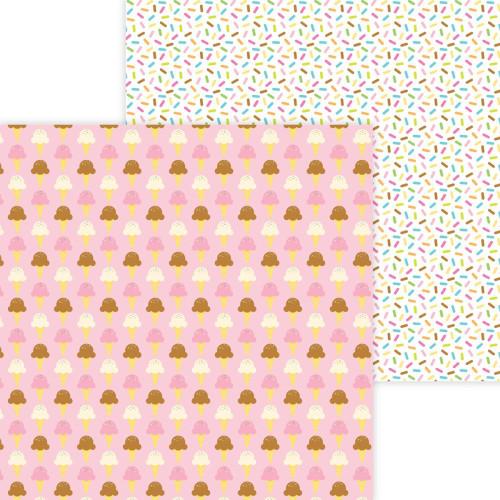 Doodlebug Hey Cupcake 12x12 Paper: Sugar Cones