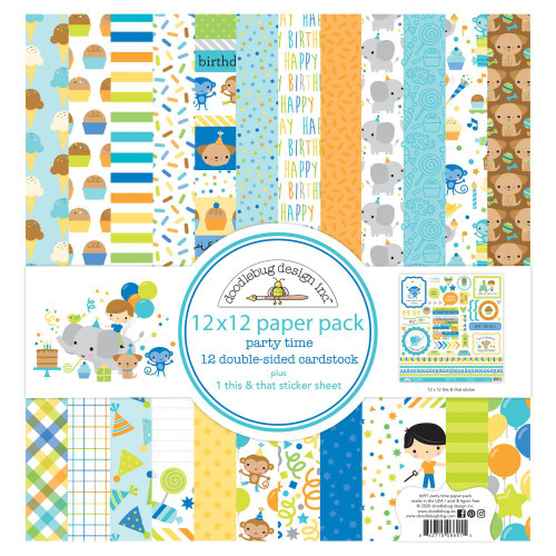 Doodlebug Party Time 12x12 Paper Pack