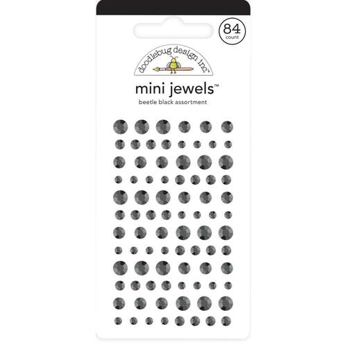 Doodlebug Monochromatic Mini Jewels: Beetle Black