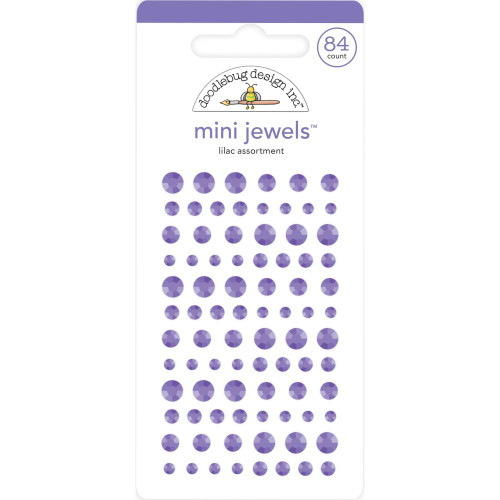 Doodlebug Monochromatic Mini Jewels: Lilac