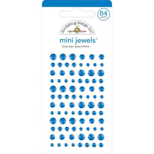 Doodlebug Monochromatic Mini Jewels: Blue Jeans