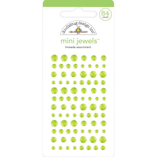 Doodlebug Monochromatic Mini Jewels: Limeade